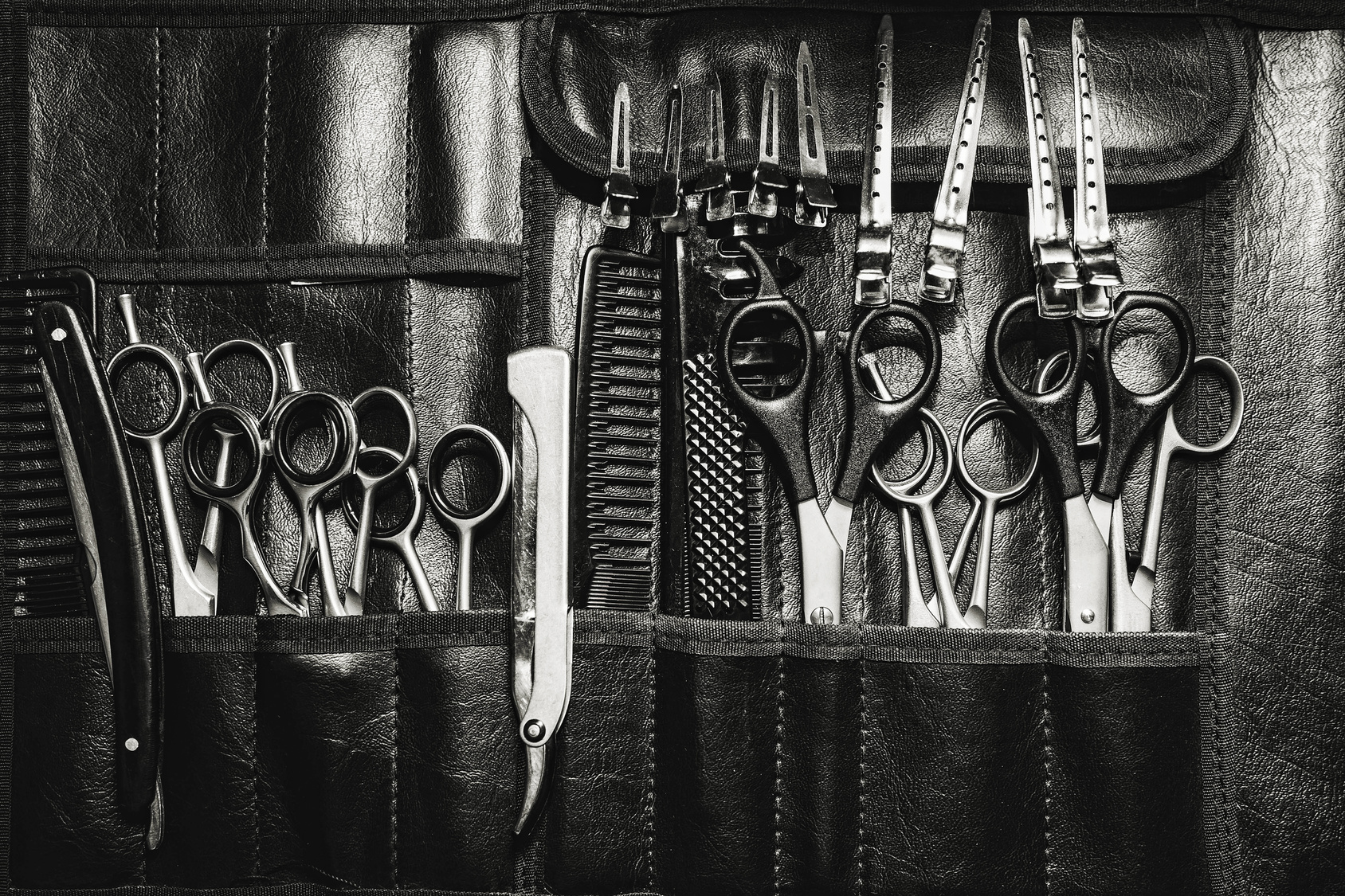 A set of cutting tools for cutting barber beard salon